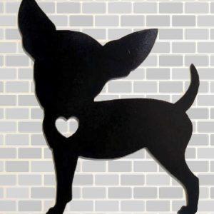 Linha Pet Placa Decorativa Chiuahua cachorro