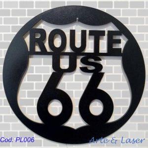 Placas Placa Decorativa Route 66 decoração de parede