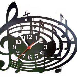 Relógios Relógio Notas Musicais analógico